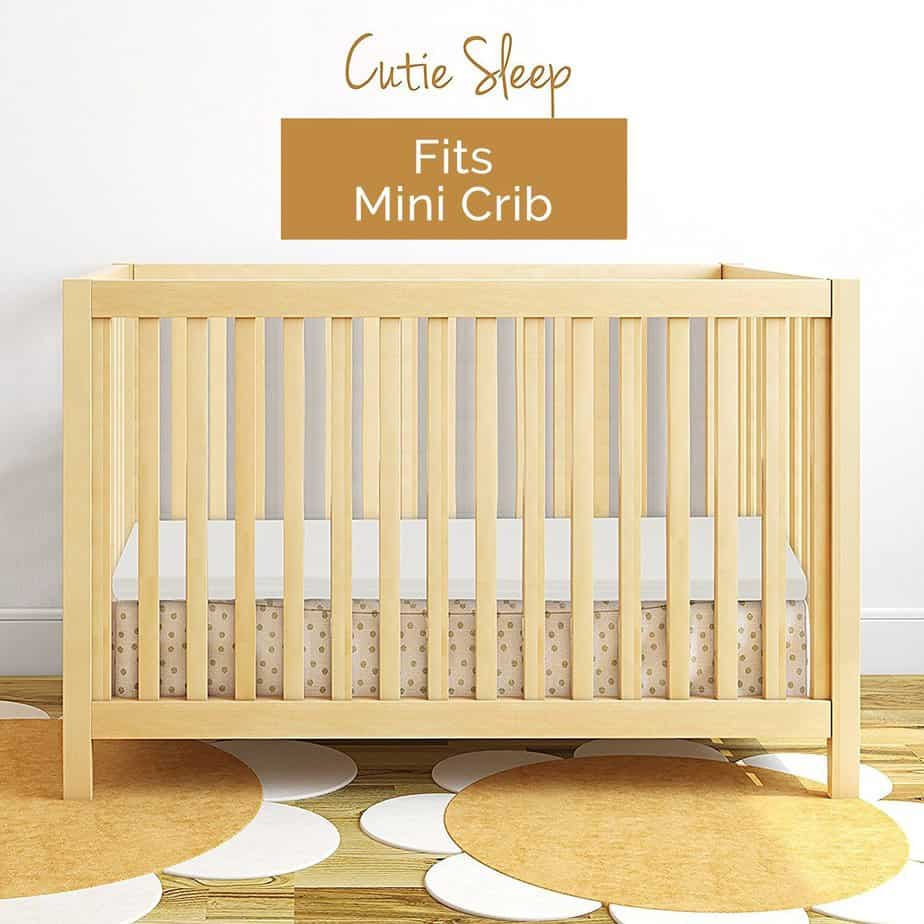 Milliard Mini-Crib memory foam mattress topper