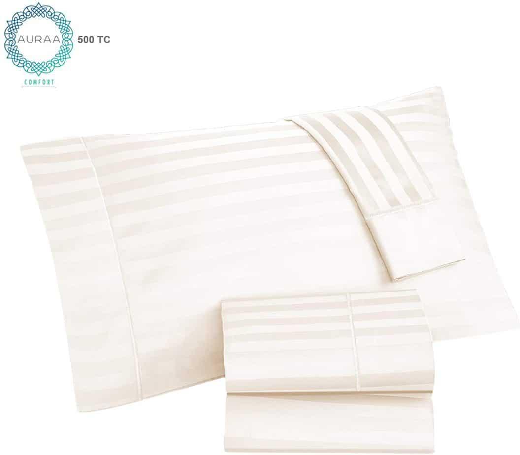 AURAA Pima Blend Cotton Sheet