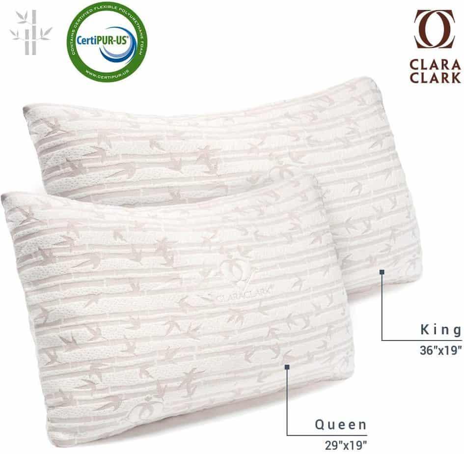 Clara Clark Shredded Memory Foam Pillow