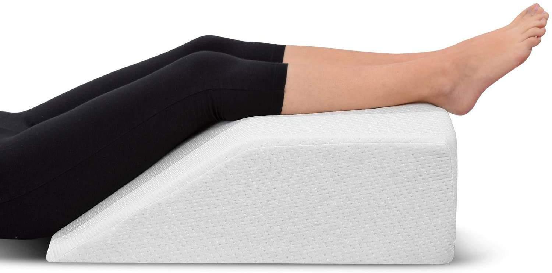 Ebung Leg Elevation Pillow With Memory Foam Top