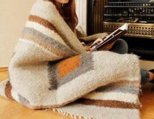 Handmade Wool Throw Blanket