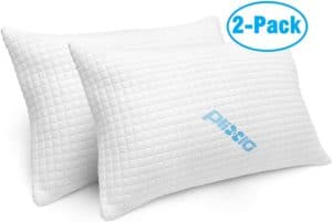 Pack Shredded Memory Foam Bed Pillows