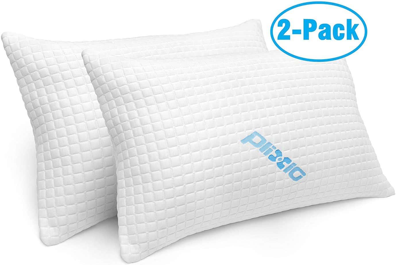 Pack Shredded Memory Foam Bed Pillows