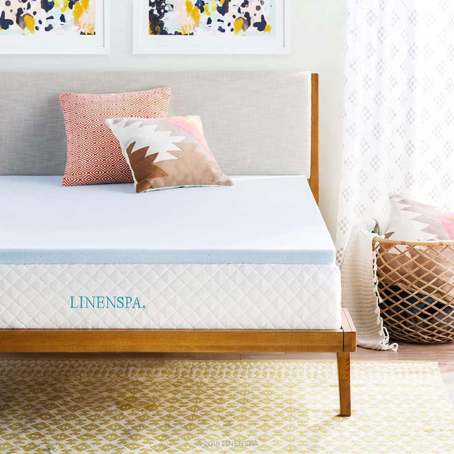 Linenspa 2 Inch Memory Foam Mattress Topper