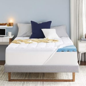 Sleep Innovations 4-Inch Dual Layer Gel Memory Foam