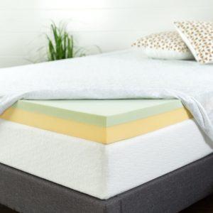 Zinus AZ Green Tea Memory Foam Mattress Topper