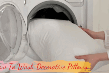 how to wash decorative pillows