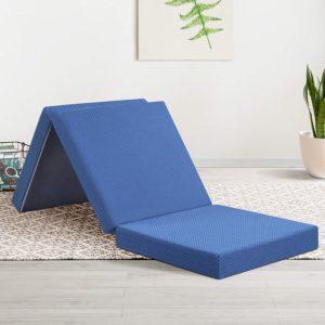 Olee Sleep Tri-Folding Mattress of Memory Foam Topper